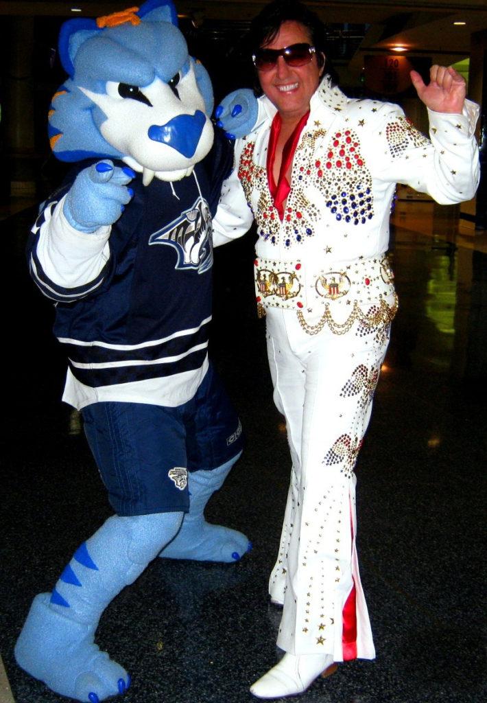 Nashville Elvis Impersonator Chuck Baril Predators Gnash
